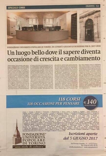 Pubblicità su La Stampa